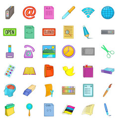 Linkage icons set cartoon style vector