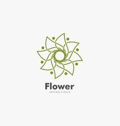 logo flower gradient line art style vector image