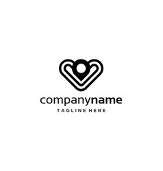 love and map pin logo design concept vector image