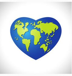 love earth logo concept vector image