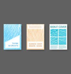 Magazine cover layouts design vector