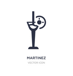 Martinez icon on white background simple element vector