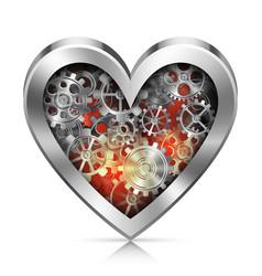 Mechanic Heart vector image