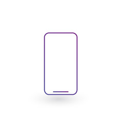 mobile phone or smartphone line icon outline sign vector image