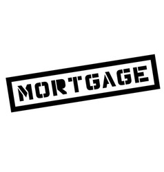 mortgage typographic stamp vector image