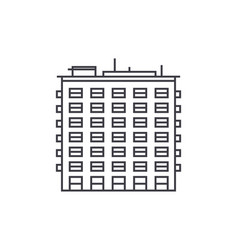 multi storey building thin line icon concept vector image