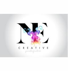 Ne vibrant creative leter logo design with vector