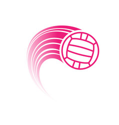 Pink water polo ball with track vector