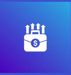 portfolio growth icon vector image