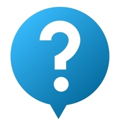 Question Balloon Gradient Icon vector