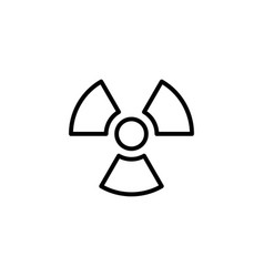 radiation icon black on white background vector image