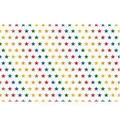 rainbow stars pattern on white background vector image