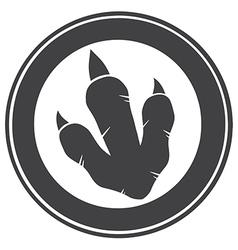 Raptor Dinosaur Paw Print Logo vector