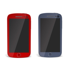 Realistic detailed smartphones vector image