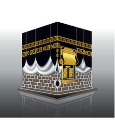 Realistic kabah masjidil haram or kaaba for hajj vector