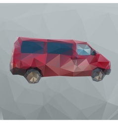 Red polygon van vector image