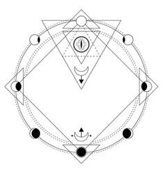 Sacred geometry esoteric symbols vector