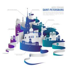 saint-petersburg cityscape vector image