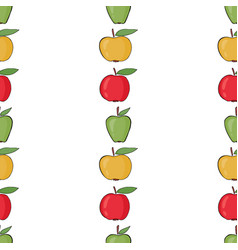 seamless pattern with colorful apples vector image