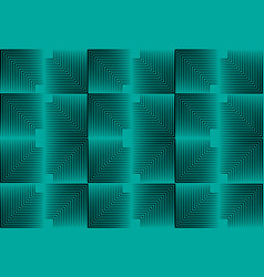 seamless psychedelic geometric background halftone vector image