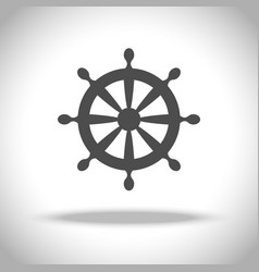 ship steering wheel icon vector image