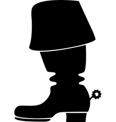Silhouette of a cowboy boot vector