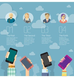 Social media mobile template vector