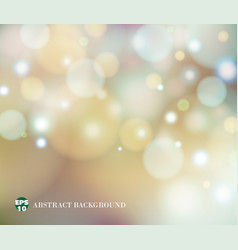 soft light of abstract blur bokeh background vector image