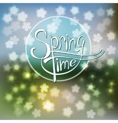 Springtime blurred background vector image