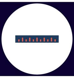 Straightedge computer symbol vector