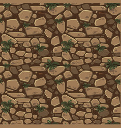 view from above seamless background texture brown vector image