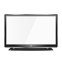 Black LCD TV vector image vector image