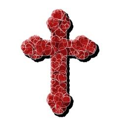 Cross of love vector image