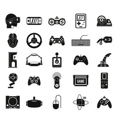 game console icon set simple style vector image