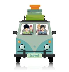 Luggage vans vector image