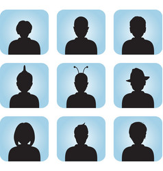 Silhouette of male female as avatar vector image vector image