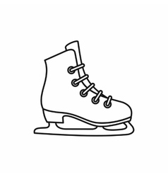 Skates icon outline style vector image