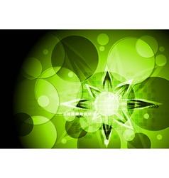 Green technical design vector image vector image