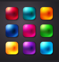 Set of realistic and colorful mobile app buttons vector image vector image