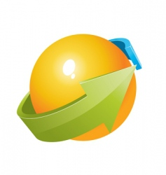 3d ball with arrows design vector image vector image