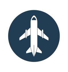 airplane emblem icon image vector image