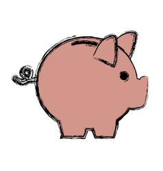 banking piggy concept safety money financial icon vector image