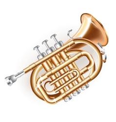 Classical mini trumpet vector image vector image