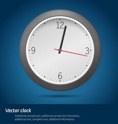 Clock over blue background vector image vector image