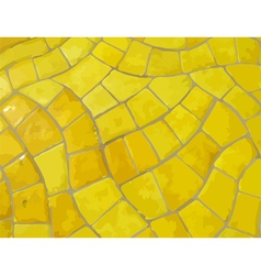 Glazed yellow stone mosaic texture vector image vector image