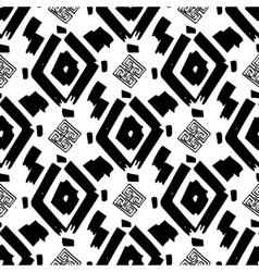 Rhombus simple seamless pattern hand drawn vector image vector image