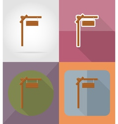 Wooden board flat icons 02 vector