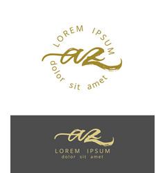A z initials monogram logo design dry brush vector