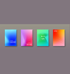 abstract gradient background with geometric color vector image