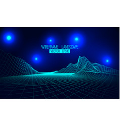 abstract wireframe landscape background vector image